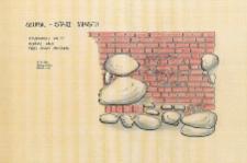 Słupsk - Stare Miasto. Profil ściany zachodniej. Stanowisko 45, sondaż 3