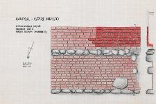 Słupsk - Stare Miasto. Profil ściany zachodniej. Stanowisko 45, sondaż 2