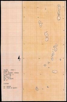 Słupsk - Rzut poziomy kamieni w warstwie II. Stanowisko 1, wyk. III