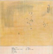 Słupsk - Grodzisko. Rzut poziomy skupiska kamieni w wykopie II. Stanowisko 1
