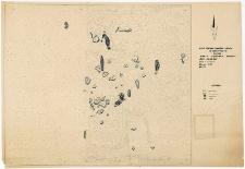 Słupsk - Grodzisko. Rzut poziomy kamieni i belek w warstwie IV. Stanowisko 1, wyk. II