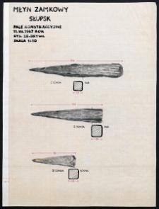 Słupsk - Młyn Zamkowy. Pale konstrukcyjne