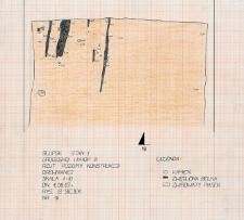 Słupsk - Grodzisko. Rzut poziomy konstrukcji drewnianej. Stanowisko 1, wykop III