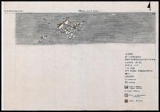 Słupsk - Grodzisko. Rzut skupisak kamieni z gliną i polepą. Stanowisko 1, wykop II, Ar III