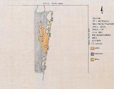 Słupsk - Grodzisko. Wschodni profil paleniska. Stanowisko 1, wyk. II, Ar 83
