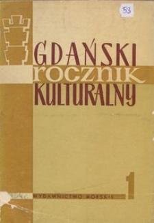 Gdański Rocznik Kulturalny, 1964, nr 1