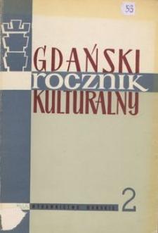 Gdański Rocznik Kulturalny, 1965, nr 2