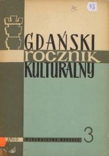 Gdański Rocznik Kulturalny, 1966, nr 3