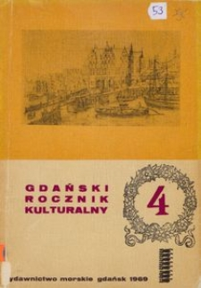 Gdański Rocznik Kulturalny, 1969, nr 4