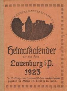Heimatkalender für den Kreis Lauenburg i/P. 1923
