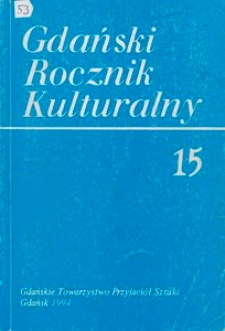 Gdański Rocznik Kulturalny, 1994, nr 15