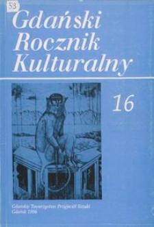 Gdański Rocznik Kulturalny, 1996, nr 16