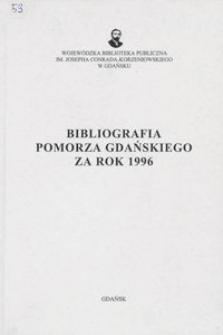 Bibliografia Pomorza Gdańskiego za rok 1996