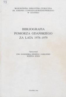 Bibliografia Pomorza Gdańskiego za lata 1978-1979