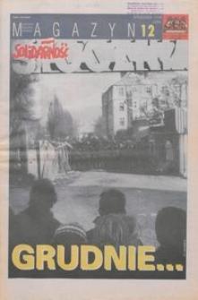 """Magazyn """"Solidarność"""", 1998, nr 12"""