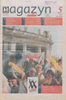 """Magazyn """"Solidarność"""", 2000, nr 5"""