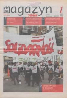 """Magazyn """"Solidarność"""", 2002, nr 1"""