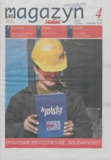 """Magazyn """"Solidarność"""", 2002, nr 4"""
