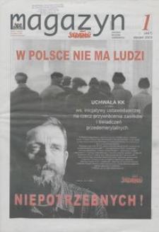 """Magazyn """"Solidarność"""", 2003, nr 1"""