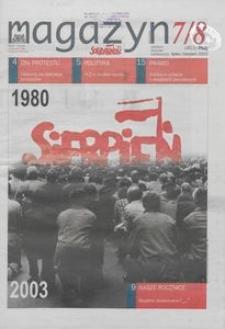 """Magazyn """"Solidarność"""", 2003, nr 7/8"""