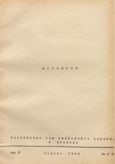 Biuletyn / Wojewódzki Dom Twórczości Ludowej w Gdańsku, 1960, nr 4