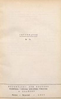 Informator / Wojewódzki Dom Twórczości Ludowej w Gdańsku, 1966, nr 54