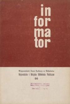 Informator / Wojewódzki Dom Kultury w Gdańsku, 1967, nr 66