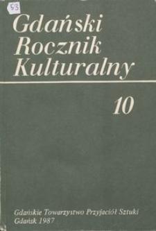 Gdański Rocznik Kulturalny, 1987, nr 10