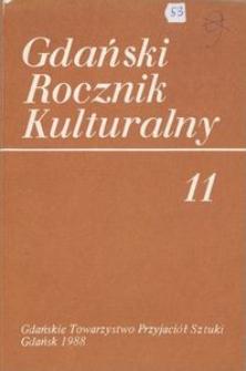 Gdański Rocznik Kulturalny, 1988, nr 11