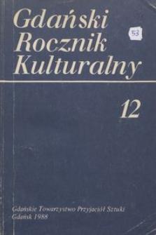Gdański Rocznik Kulturalny, 1989, nr 12