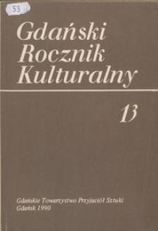 Gdański Rocznik Kulturalny, 1990, nr 13