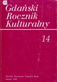 Gdański Rocznik Kulturalny, 1992, nr 14