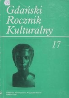 Gdański Rocznik Kulturalny, 1997, nr 17