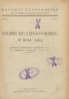 Hamburg i jego okręg w roku 1924 : (raport gospodarczy konsula gen. R. P. w Hamburgu, A. Pomiana - za r. 1924)