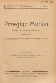 Przegląd Morski : miesięcznik Marynarki Wojennej, 1929, nr 2