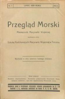 Przegląd Morski : miesięcznik Marynarki Wojennej, 1929, nr 7
