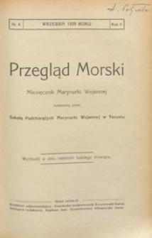 Przegląd Morski : miesięcznik Marynarki Wojennej, 1929, nr 9
