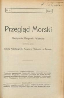 Przegląd Morski : miesięcznik Marynarki Wojennej, 1929, nr 12