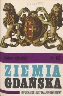 Informator Wojewódzkiego Ośrodka Kultury : Ziemia Gdańska, 1975, nr 112