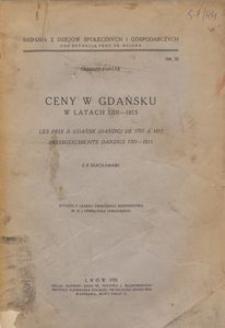 Ceny w Gdańsku w latach 1701-1815