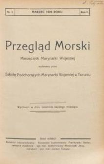 Przegląd Morski : miesięcznik Marynarki Wojennej, 1929, nr 3