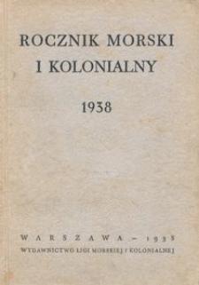 Rocznik Morski i Kolonialny : 1938