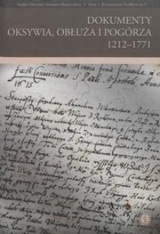 Dokumenty Oksywia, Obłuża i Pogórza 1212-1771