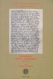 Dokumenty Gdyni i Grabówka 1253-1772