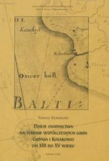 Dzieje osadnictwa na terenie współczesnych gmin Gdynia i Kosakowo