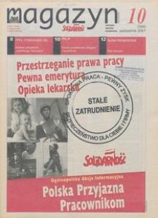"""Magazyn """"Solidarność"""", 2007, nr 10"""