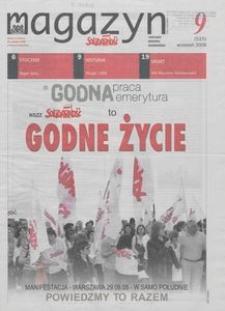 """Magazyn """"Solidarność"""", 2008, nr 9"""