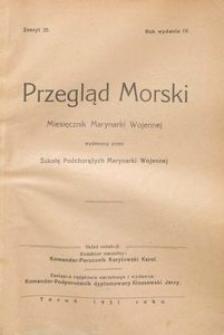 Przegląd Morski : miesięcznik Marynarki Wojennej, 1931, nr 25