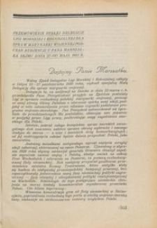 Przegląd Morski : miesięcznik Marynarki Wojennej, 1931, nr 29