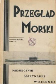 Przegląd Morski : miesięcznik Marynarki Wojennej, 1930, nr 13